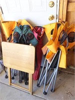 Folding Lawn Chairs and TV Tray
