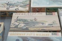 12 Model Airplane Kits in Boxes