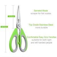 Vipon Scissors / Kitchen Shears - Green Handle