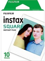 Fujifilm 16583652 Instax Square Film, White Single