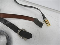 """""""As Is"""" Lot Of 4 Adult Leather Belts, Brown/Black"""