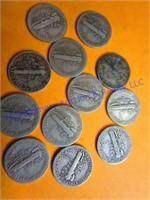 12 MECURY DIMES
