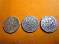 3-1955 ROOSEVELT DIMES
