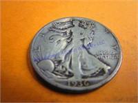1936P WALKING LIBERTY HALF DOLLAR