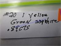 YELLOW/GREEN SAPPHIRE GEM