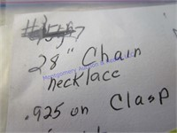 """28"""" CHAIN NECKLACE"""