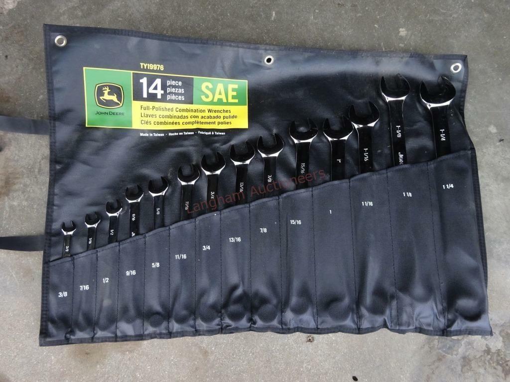 14-piece John Deere Combination Wrench Set