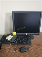 Dell Monitor, Tower, Printer, and Accessories