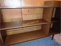 Vintage Dry Bar with Bookshelves