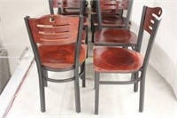 Multipurpose Wood Chair with Metal Frame