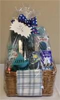 Blue Christmas Kitchen Gift Basket