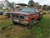 1979 GMC Utility Bed with boom 4x4