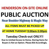BOULDER HWY & MAGIC WAY ON-SITE ONLINE  AUCTION 11/23 @6pm