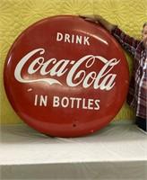Vintage Metal Coca-Cola Sign 4'