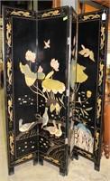 Korean  Room Divider-Bird & Flower Carving