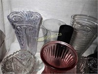 Assortment of Glass Vases