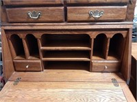 Lexington Oak Drop Front Secretary Desk
