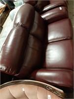 "Leather Like Loveseat. 60"" Long"