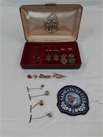 Barometer, men's cufflink box, and Sarnia yacht