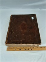Antique family bible belonged to Issac P. Thompson