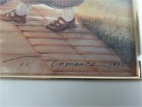 "Mother Tesesa Art By Comanco 26 1/2"" X 24 1/4"""