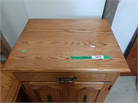 Wooden Cabinet With Doors With Pull Out Desk And