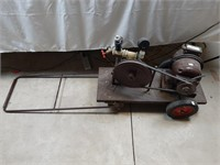 Portable water pump on cart