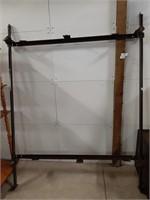 Metal adjustable bed frame with wheels