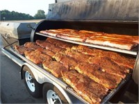 Portable Woodfired BBQ Trailer