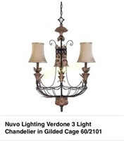 Nuvo 3 Light Chandelier - New in Box