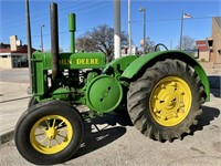 ANTIQUE CARS AND JD TRACTOR