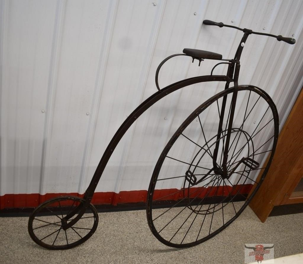 "Circa 1830's-1850's 40"" High Wheel Bicycle. Gas"