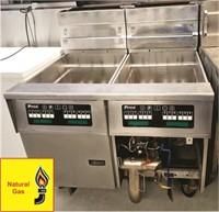 PITCO 2 Bank Fryer w/Filtration-