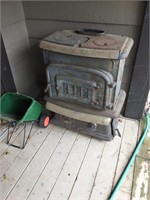 OLD CAST IRON WOOD STOVE