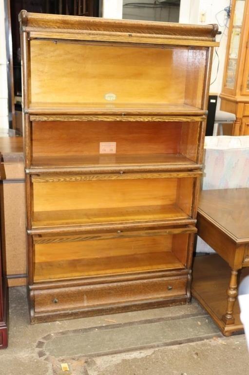 4 Shelf Lawyer's library bookshelf with 1 drawer-