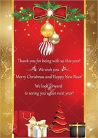 Merry Christmas & Happy New Year! Closed Dec. 23rd - Jan 1st