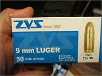 AMMO BOX OF 9mm LUGER