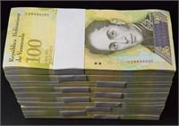 2017 100,000 Bolivares (1000pcs) 1000 Fresh New Notes