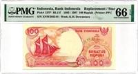 Indonesia Replacement Star Note PMG EPQ 66 GEM UNC