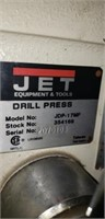 JET Industrial Drill Press on steel stand