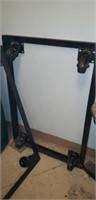 2 industrial steel frames on wheels