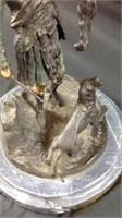 "12""Pierre Jean Mene Bronze and marble statue"