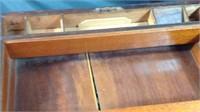Antique portable wood lap writing desk
