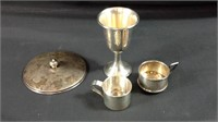 Four pieces of miscellaneous sterling silver