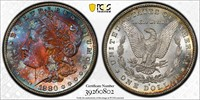 1880-S Morgan Silver Dollar PCGS MS67++ TrueView Gold Shield Holder
