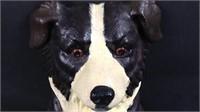 14 inch cast-iron dog doorstop