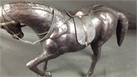 "Large 11"" x 13"" leather horse"