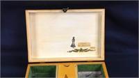 Vintage 11 x 7 x 3 wood musical box
