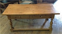 Vintage coffee table with two drawers