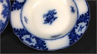 Two antique flow blue pieces of China